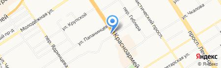 Индустриальное на карте Барнаула