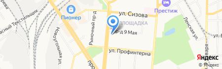 Прокси на карте Барнаула