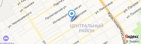 Средняя общеобразовательная школа №13 на карте Барнаула