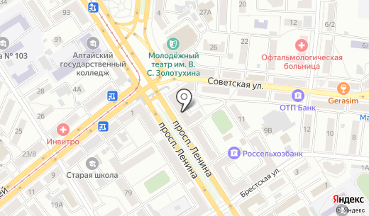 Glance. Схема проезда в Барнауле