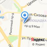 Держава на карте Барнаула