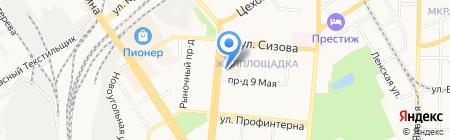 Импортная мебель на карте Барнаула