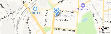 Есфирь на карте Барнаула