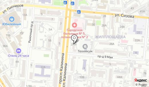 Импортная мебель. Схема проезда в Барнауле