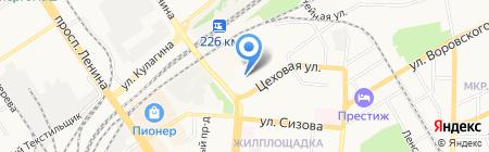 Алтай-поддон на карте Барнаула