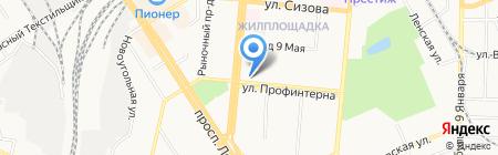 Три Кита на карте Барнаула