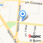 Акибтион на карте Барнаула