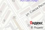 Схема проезда до компании TianDe в Барнауле