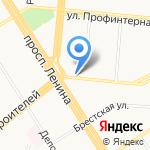 ПЖЭТ-2 Октябрьского района на карте Барнаула