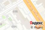 Схема проезда до компании Paradise в Барнауле