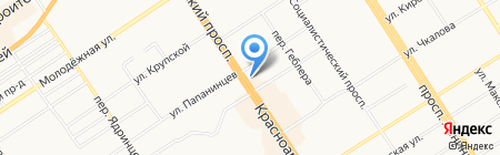 Семицветик на карте Барнаула