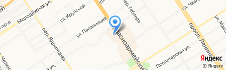 Ларец на карте Барнаула