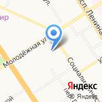 Барнаульская крепость на карте Барнаула