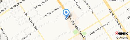 Енисейтелеком на карте Барнаула