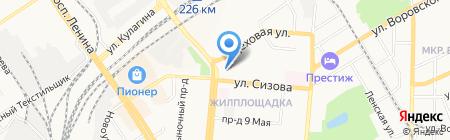 Промышленные полы на карте Барнаула