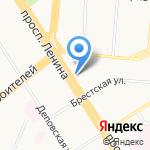 Брют на карте Барнаула