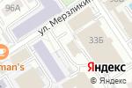 Схема проезда до компании Золотое яблоко в Барнауле