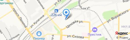 Агенор на карте Барнаула