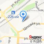 Фабрика детской игрушки на карте Барнаула