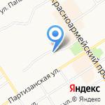Монастырский хлеб на карте Барнаула