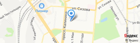 Детский сад №16 на карте Барнаула