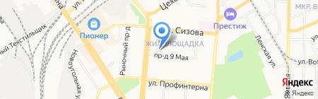 Дом учителя на карте Барнаула