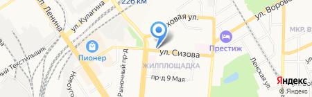 Адвокатская контора №1 Октябрьского района на карте Барнаула