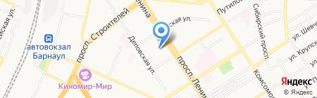 Россия на карте Барнаула