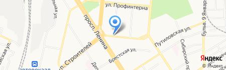 Магазин цветов на карте Барнаула