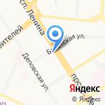 Золотой на карте Барнаула