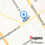 Даниш на карте Барнаула