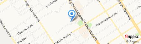 Букинистический магазин на карте Барнаула