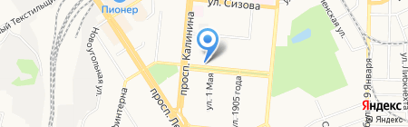 Тропик на карте Барнаула