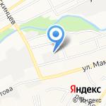 Автовид на карте Барнаула