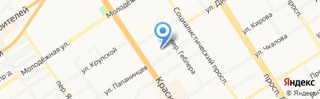Типография управления делами Администрации Алтайского края на карте Барнаула