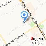 Барбарис на карте Барнаула