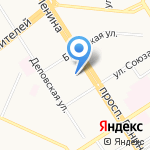 Егерь на карте Барнаула