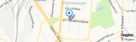 Подшипникторг на карте Барнаула