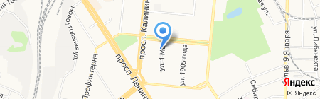 Башмачок на карте Барнаула