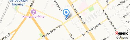Скатт на карте Барнаула