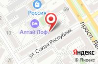 Схема проезда до компании Полиграфист в Барнауле