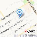 АлтайТелефонСтрой на карте Барнаула