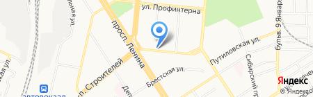 Флекс на карте Барнаула