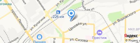 Райдер на карте Барнаула