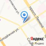 Катанда на карте Барнаула
