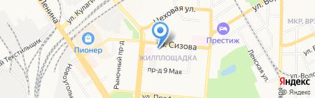 Отдел полиции №4 Управления МВД России по г. Барнаулу на карте Барнаула