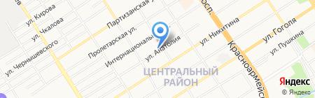 Симари на карте Барнаула