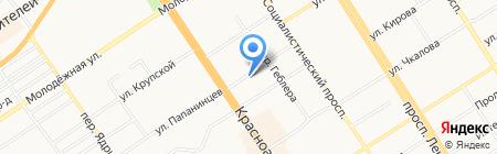 Главное Управление строительства транспорта на карте Барнаула