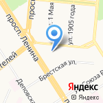 Федерация каратэ Ашихара Кайкан Алтайского края на карте Барнаула