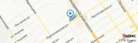 Континент на карте Барнаула